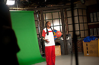 INDIANAPOLIS, IN - APRIL 1, 2011: Chiney Ogwumike prepares for an on camera taping at Conseco Fieldhouse during the NCAA Final Four in Indianapolis, IN on April 1, 2011.