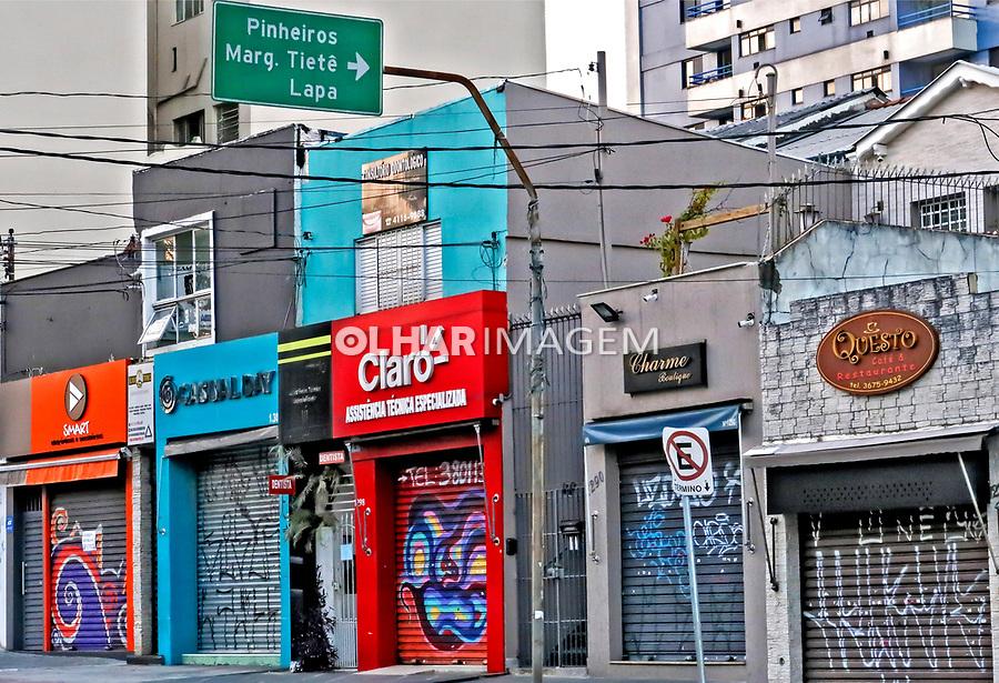 Comercio fechado, quarentena Coronavirus,<br /> São Paulo. 13.04.2020. Foto Juca Martins