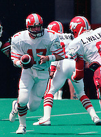 Joe Barnes Calgary Stampeders quarterback 1985 Copyright photograph Scott Grant