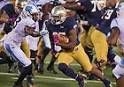Oct 11, 2014; Tarean Folston (25) runs into the end zone for a ND's final touchdown. (Photo by Matt Cashore)