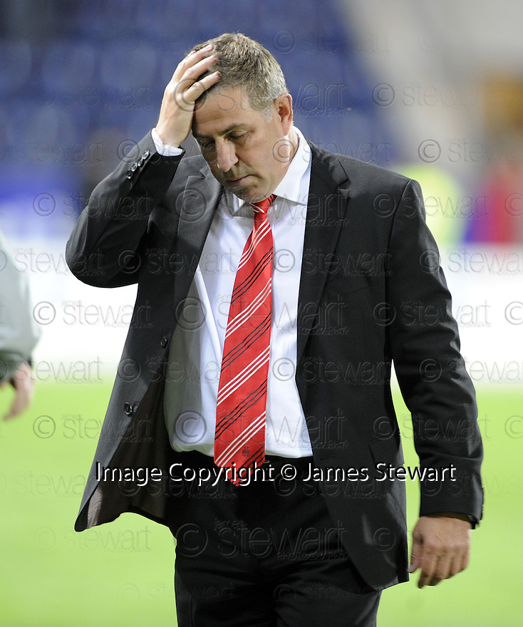 14/09/2009  Copyright  Pic : James Stewart.sct_jspa10_falkirk_v_aberdeen  .ABERDEEN MANAGER MARK MCGHEE AT THE GAME AGAINST FALKIRK.James Stewart Photography 19 Carronlea Drive, Falkirk. FK2 8DN      Vat Reg No. 607 6932 25.Telephone      : +44 (0)1324 570291 .Mobile              : +44 (0)7721 416997.E-mail  :  jim@jspa.co.uk.If you require further information then contact Jim Stewart on any of the numbers above.........