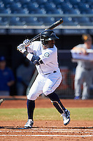 Peoria Javelinas Guillermo Heredia (5), of the Seattle Mariners organization, during a game against the Mesa Solar Sox on October 19, 2016 at Peoria Stadium in Peoria, Arizona.  Peoria defeated Mesa 2-1.  (Mike Janes/Four Seam Images)