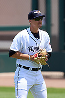 Lakeland Flying Tigers pitcher Matt Walker (25) during warmups before a game against the Tampa Tarpons on May 16, 2021 at Joker Marchant Stadium in Lakeland, Florida.  (Mike Janes/Four Seam Images)