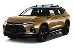 2019 Chevrolet Blazer RS 5 Door SUV Angular Front stock photos of front three quarter view