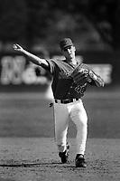 Adam Kennedy of the Cal State Northridge Matadors during a game at Matadors Field in Northridge, California during the 1997 season.(Larry Goren/Four Seam Images)
