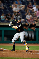 West Virginia Black Bears catcher Grant Koch (51) at bat during a game against the State College Spikes on August 30, 2018 at Medlar Field at Lubrano Park in State College, Pennsylvania.  West Virginia defeated State College 5-3.  (Mike Janes/Four Seam Images)
