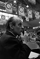 Congres pre-electoral du Parti quebecois en presence de Rene Levesque et Jacques Parizeau, le 19 octobre 1969 au centre Maisonneuve de Montreal <br /> <br /> Photographe : Photo Moderne<br /> <br /> - agence Quebec Presse