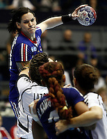 SERBIA, BELGRADE: France's Alexandra Lacrabere in action during handball Women's World Championship match between France and Montenegro in Belgrade, Serbia on Wednesday, December 11, 2013. (credit image & photo: Pedja Milosavljevic / STARSPORT / +318 64 1260 959 / thepedja@gmail.com)