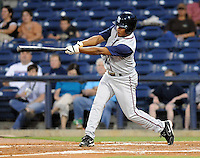 10 April 2008: Guillermo Reyes of the Mobile BayBears, Class AA affiliate of the Arizona Diamondbacks, in a game against the Mississippi Braves at Trustmark Park in Pearl, Miss. Photo by:  Tom Priddy/Four Seam Images