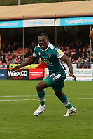 Isaac Olaofe of Sutton United scores the first goal for his team and celebrates during Crawley Town vs Sutton United, Sky Bet EFL League 2 Football at The People's Pension Stadium on 16th October 2021