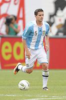 Argentina midfielder Fernando Gago (5) The Argentina National Team defeated Brazil 4-3 at MetLife Stadium, Saturday July 9 , 2012.