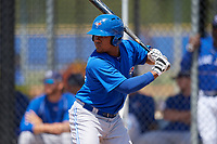Toronto Blue Jays Bryan Lizardo (4) at bat during a minor league Spring Training game against the New York Yankees on March 30, 2017 at the Englebert Complex in Dunedin, Florida.  (Mike Janes/Four Seam Images)