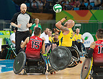 Rio 2016 - Wheelchair Rugby // Rugby En Fauteuil roulant.<br /> Canada vs. Australia in Wheelchair Rugby Mixed - Pool Phase Group A, Match 12 // Le Canada affronte l'Australie en Rugby en fauteuil roulant mixte - Phase de poule, groupe A, match 12. 16/09/2016.
