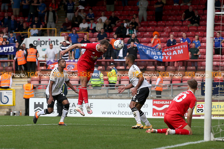 Harry Smith of Leyton Orient scores the fourth goal for his team during Leyton Orient vs Oldham Athletic, Sky Bet EFL League 2 Football at The Breyer Group Stadium on 11th September 2021