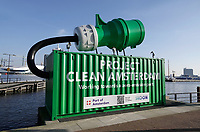 Nederland  Amsterdam -  2020. Project Clean Amsterdam. Working towards a zero-emission port.   Foto : ANP/ HH / Berlinda van Dam