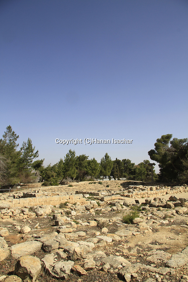 Remains of the Royal Palace from the period of the Kingdom of Judah at Ramat Rachel Archaeological Garden