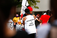 Protesters organized by the group 'Pittsburgh I Can't Breathe' march through East Liberty on Friday June 26, 2020 in Pittsburgh, Pennsylvania. (Photo by Jared Wickerham/Pittsburgh City Paper)