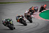 27th September 2020, Circuit de Barcelona Catalunya, Barcelona, MotoGp of Catalunya, Race Day;  The leader riders take a chicane