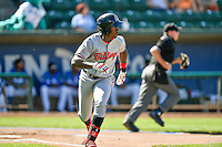 Montrell Marshall (48) of the Billings Mustangs at bat against the Ogden Raptors in Pioneer League action at Lindquist Field on August 14, 2016 in Ogden, Utah. Ogden defeated Billings 15-9. (Stephen Smith/Four Seam Images)