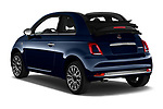 Car pictures of rear three quarter view of 2020 Fiat 500C-HYBRID S8-Star 2 Door Convertible Angular Rear