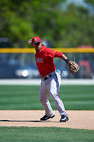 Boston Red Sox Heiker Meneses (19) during practice before a minor league Spring Training game against the Baltimore Orioles on March 16, 2017 at the Buck O'Neil Baseball Complex in Sarasota, Florida. (Mike Janes/Four Seam Images)