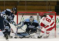 Boston, Massachusetts - January 6, 2018: NCAA Division I. University of Maine (blue) defeated Boston University (white), 4-1, at Walter Brown Arena.