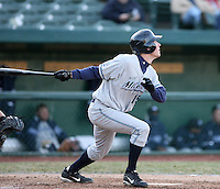 April 4, 2008:  West Michigan Whitecaps starting outfielder Kyle Peter (15) at bat against the South Bend SilverHawks at Coveleski Stadium in South Bend, IN.  Photo by: Chris Proctor/Four Seam Images