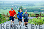 Terry O'Sullivan, Mike Casey, Declan Keenan running in the Everesting Challenge in Kilflynn on Sunday