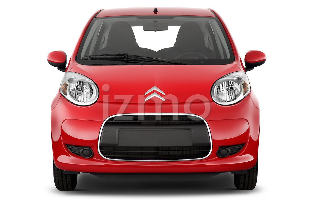 Straight front view of a 2009 - 2012 Citroen C1 Airplay 5-Door Micro Car Hatchback
