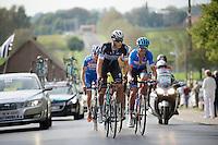 Niki Terpstra (NLD/OmegaPharma-Quickstep) & Jack Bauer (NZL/Garmin-Sharp) lead the breakaway group<br /> <br /> stage 1<br /> Euro Metropole Tour 2014 (former Franco-Belge)