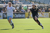 Frida Ostberg (18) and Tiffany Weimer (8) chase down the ball. FC Gold Pride and Chicago Red Stars tied 1-1 at Buck Shaw Stadium in Santa Clara, California on June 7, 2009.