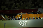 (R to L)<br />Tokyo 2020 President Seiko Hashimoto,<br />Tokyo Governor Yuriko Koike,<br />Japan's Prime Minister Yoshihide,<br />Japan's Emperor Naruhito,<br />IOC Member Anita DeFrantz,<br />President of the International Olympic Committee (IOC) Thomas Bach,<br />IOC Member Anita DeFrantz, <br />JULY 23, 2021 : <br />Tokyo 2020 Olympic Games Opening Ceremony at the Olympic Stadium in Tokyo, Japan. <br />(Photo by Yohei Osadai/AFLO SPORT)