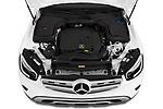 Car Stock 2020 Mercedes Benz GLC-Class GLC300 5 Door SUV Engine  high angle detail view