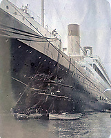 Unseen photos showing how the captain of the Titanic crashed the liner's sister ship