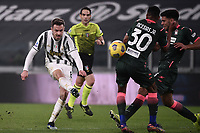 Aaron Ramsey of Juventus FC in action during the Serie A football match between Juventus FC and FC Crotone at Allianz stadium in Torino (Italy), February 22th, 2021. Photo Federico Tardito / Insidefoto