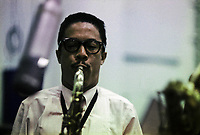 Johnny Griffin c.1960, possibly recording NYC
