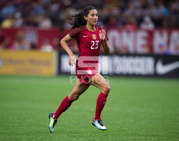 New Orleans, LA - October 19, 2017: The USWNT defeated South Korea 3-1 during an international friendly at the Superdome.