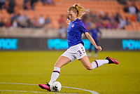 HOUSTON, TX - JANUARY 28: Samantha Mewis #3 of the United States warming up during a game between Haiti and USWNT at BBVA Stadium on January 28, 2020 in Houston, Texas.