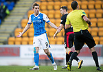 St Johnstone v Partick Thistle…27.01.18…  McDiarmid Park…  SPFL<br />Steven MacLean questions referee Gavin Duncan after he disallow's David Wotherspoon's first half goal<br />Picture by Graeme Hart. <br />Copyright Perthshire Picture Agency<br />Tel: 01738 623350  Mobile: 07990 594431