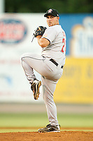 Relief pitcher Ryan Cole #24 of the Greeneville Astros in action against the Bristol White Sox at Boyce Cox Field July 2, 2010, in Bristol, Tennessee.  Photo by Brian Westerholt / Four Seam Images