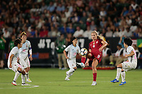 Carson, CA - Thursday August 03, 2017: Lindsey Horan during a 2017 Tournament of Nations match between the women's national teams of the United States (USA) and Japan (JPN) at the StubHub Center.