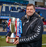 06.05.2019 Falkirk v Rangers reserves: Graeme Murty with the reserve league trophy