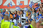 EURO 2016 QUALIFYING: WALES V ISRAEL AT CARDIFF CITY STADIUM : <br /> Israel football fans.<br /> <br /> EDITORIAL USE ONLY.