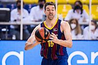 11th April 2021; Palau Blaugrana, Barcelona, Catalonia, Spain; Liga ACB Basketball, Barcelona versus Real Madrid; 16 Pau Gasol  of Barcelona during the Liga Endesa match