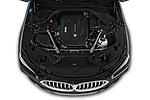 Car stock 2019 BMW 8 Series M Sport 2 Door Coupe engine high angle detail view