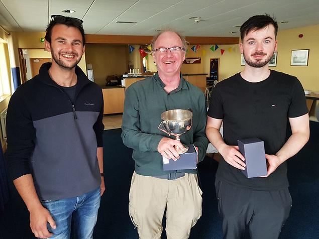 Josh (2nd) with Silver Fleet winners Ciaran Hickey and son Leo.