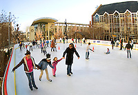The annual ice skating rink that appears each winter in Uptown Charlotte has become a favorite tradition of many residents..