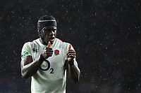 Maro Itoje of England gives a thumbs up during the Quilter International match between England and New Zealand at Twickenham Stadium on Saturday 10th November 2018 (Photo by Rob Munro/Stewart Communications)