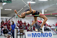 "WINSTON-SALEM, NC - FEBRUARY 07: Erika Kinsey wins the Women's High Jump with a jump of 1.92 meters (6'3.5"") at JDL Fast Track on February 07, 2020 in Winston-Salem, North Carolina."