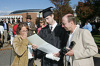 The 2006 Fall convocation at UVa graduate with parents